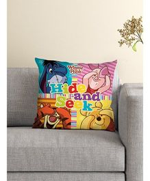 Athom Trendz Disney Winnie The Pooh Cushion With Cover DIS-10-3-D18-FL-M - Yellow Multicolor