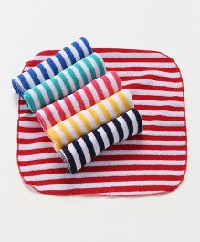 Babyhug Terry Face Napkins Stripes Print Pack Of 6 - Multicolor