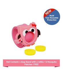 Safe-O-Kid 1 Mosquito Repellent Band Ayurvedic With 2 Refills Tweety - Pink