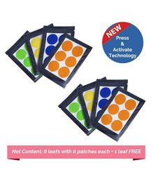 Safe-O-Kid Anti-Mosquito Patches Assorted Colors - 48 Patches
