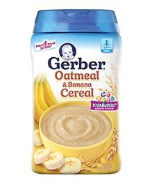 Gerber Oatmeal & Banana Cereal - 227 gm