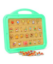 Funworld 2 In 1 ABC Puzzle Slate - Green