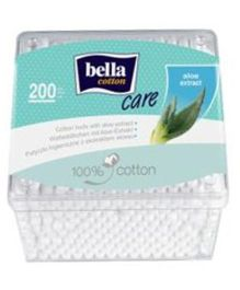 Bella Cotton Buds With Aloe Vera Extract In Plastic Box - 200 Pieces