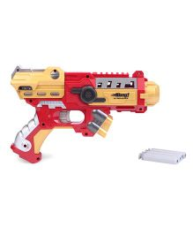 Bang Prinio Gun Toy With Soft Bullets - Golden Red