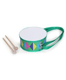 Alpaks Toy Drum With Wooden Sticks Green (Print May Vary)