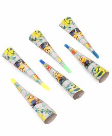 Minions Paper Hooters Pack Of 6 - Multi Color