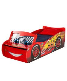 Disney Cars Lightning McQueen Toddler Bed - Red