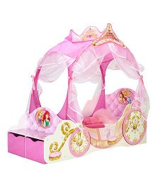 Disney Princess Carriage Toddler Bed - Pink
