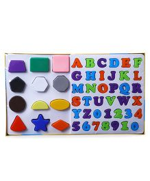Ratnas Alpha Numbers & Shapes Multicolor - 50 Pieces