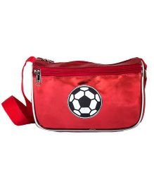 Li'll Pumpkins FootBall Metallic Sling Pouch - Red