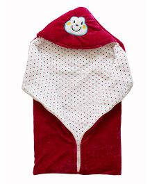 My NewBorn Sleeping Bag Cum Wrap Velvet Blanket - Maroon