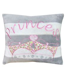 Abracadabra Cushion Princess Embroidery - Grey