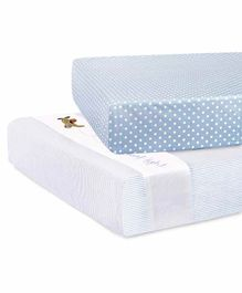 Abracadabra Crib Bedding Sheets Transport Embroidery Set Of 2 - Blue
