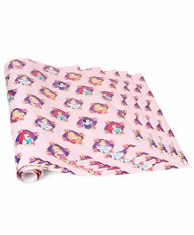 Disney Gift Wrapper Princess Print Pack Of 5 - Pink