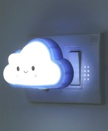Smiling Cloud Shaped LED Night Lamp - Blue
