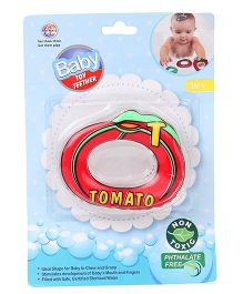 Ratnas Tomato Shape Water Filled Teether - Red
