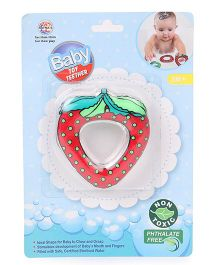 Ratnas Strawberry Shape Water Filled Teether - Red