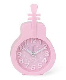 Guitar Shaped Alarm Clock - Pink