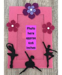 Kalacaree Ballerina Theme Magnetic Photo Frame - Pink