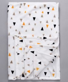 Mee Mee Soft Blanket Printed - White