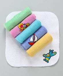 Mee Mee Baby Mini Napkins Animal Design Pink Yellow Green - 6 pieces