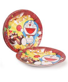 Doraemon Party Paper Plates Let's Party Print - Pack Of 10