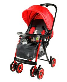R for Rabbit Poppins Plus An Ideal Pram for Moms - Red & Grey