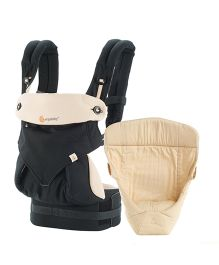 ad34b199aaa Ergobaby 4 Position 360 Bundle of Joy With Easy Snug Infant Insert - Beige    Black