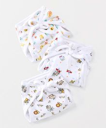 Mee Mee Cloth Nappy Printed Newborn Pack Of 3 - White