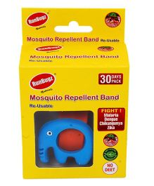 Runbugz Elephant Mosquito Repellent Band With Refillable Tabs Blue - 1 Month Pack