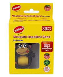 Runbugz Monkey Mosquito Repellent Band Yellow - 1 Month Pack