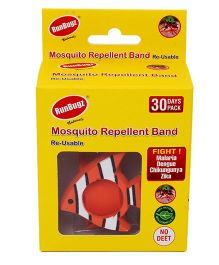 Runbugz Fish Mosquito Repellent Band With Refillable Tabs Orange - 1 Month Pack