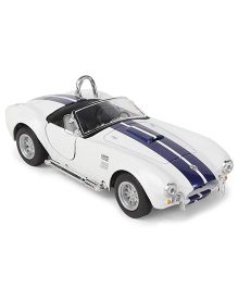 Kinsmart 1965 Shelby Cobra Die Cast Toy Car With Openable Doors - White