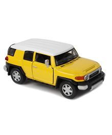 Kinsmart Toyota Fj Cruiser Die Cast Toy Car With Openable Doors - Yellow