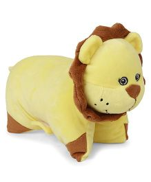 Starwalk Lion Shape Folding Pillow - Yellow