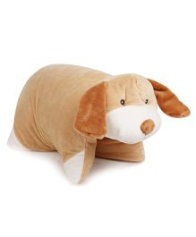 Starwalk Puppy Shape Folding Pillow - Light Brown