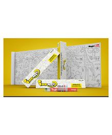 Inkmeo Reusable Animals Colouring Roll
