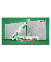 Inkmeo Reusable Jurassic Colouring Roll