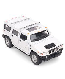 Kinsmart Die Cast Hummer H2 SUV Toy Car With Openable Doors - White