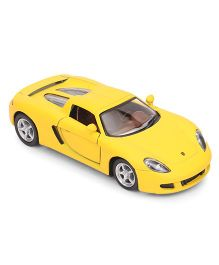 Kinsmart Die Cast Porsche Carrera GT Cayman Toy Car - Yellow