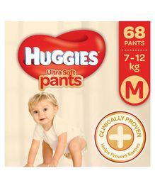Huggies Ultra Soft Pants Medium Size Premium Diapers - 68 Pieces