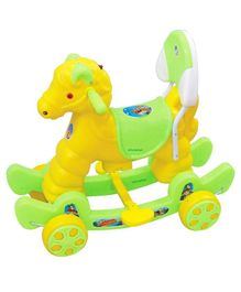 Ehomekart Horse 2 in 1 Rocker Cum Ride-On - Green