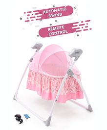 Babyhug Beryl Electronic Cradle With Remote Control - Pink