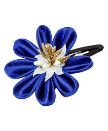 Keira'S Pretties Floral Design Tick Tak Hair Clip - Navy Blue