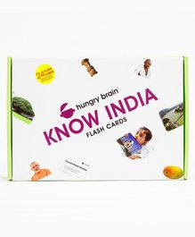 Hungry Brain Know Our India Flash Cards - Multi Colour