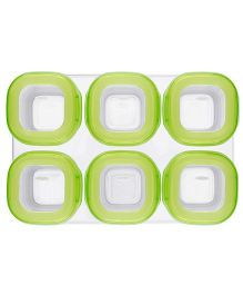 Oxo Tot Freezer Storage Containers Set Of 6 - Green
