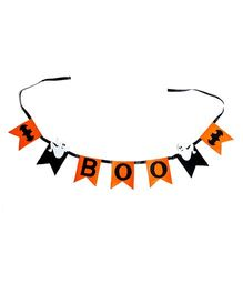 Li'll Pumpkins Halloween Boo Bunting - Orange & Black