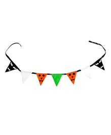 Li'll Pumpkins Halloween Scary Triangle Bunting - Orange & Black