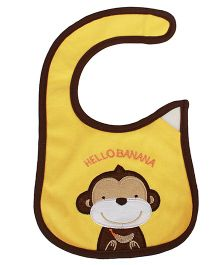 Babies Bloom Waterproof Saliva Bib Monkey Patch - Yellow