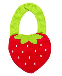 Babies Bloom Strawberry Shape Waterproof Bib - Red